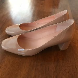 kate spade new york Nude Delores Leather Heels
